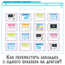 перемещение закладок между браузерами