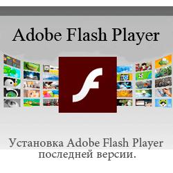 Установка Adobe Flash Player последней версии.