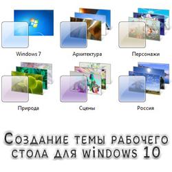Создание темы рабочего стола для windows 10