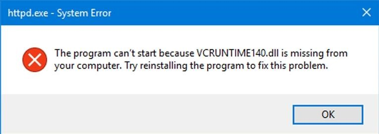 Vcruntime140 DLL